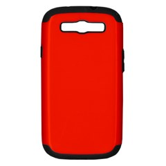 Bright Red Samsung Galaxy S Iii Hardshell Case (pc+silicone)