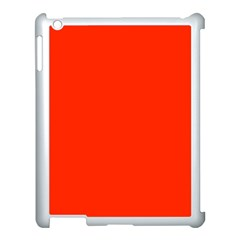 Bright Red Apple Ipad 3/4 Case (white)