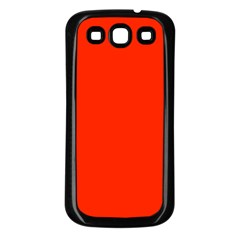 Bright Red Samsung Galaxy S3 Back Case (black)