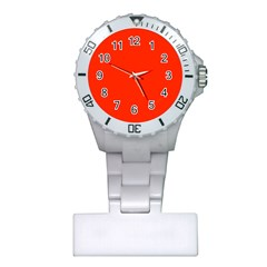 Bright Red Nurses Watch