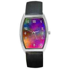 Plasma 7 Tonneau Leather Watch by BestCustomGiftsForYou