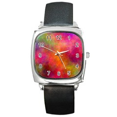 Plasma 10 Square Leather Watch by BestCustomGiftsForYou