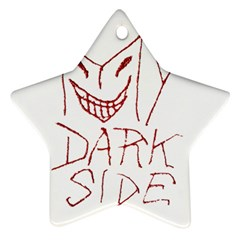 My Dark Side Typographic Design Star Ornament by dflcprints