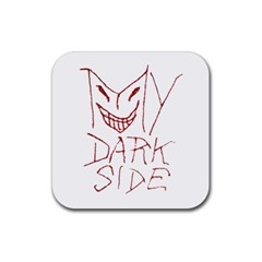 My Dark Side Typographic Design Drink Coaster (square) by dflcprints