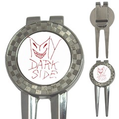 My Dark Side Typographic Design Golf Pitchfork & Ball Marker by dflcprints