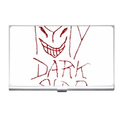 My Dark Side Typographic Design Business Card Holder by dflcprints