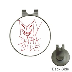 My Dark Side Typographic Design Hat Clip With Golf Ball Marker by dflcprints