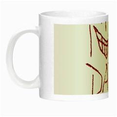 My Dark Side Typographic Design Glow In The Dark Mug by dflcprints
