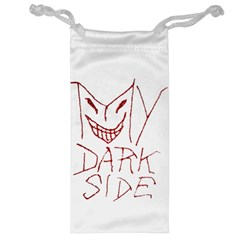 My Dark Side Typographic Design Jewelry Bag by dflcprints