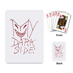 My Dark Side Typographic Design Playing Cards Single Design by dflcprints