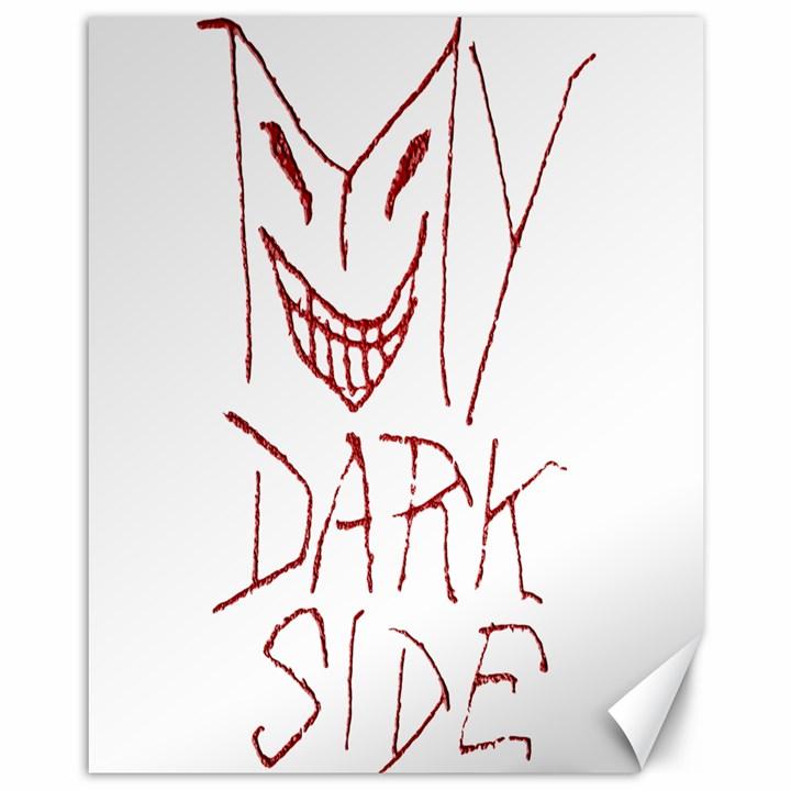 My Dark Side Typographic Design Canvas 11  x 14  (Unframed)