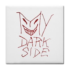 My Dark Side Typographic Design Face Towel by dflcprints