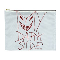 My Dark Side Typographic Design Cosmetic Bag (xl) by dflcprints
