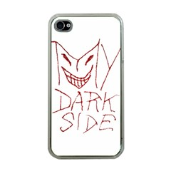 My Dark Side Typographic Design Apple Iphone 4 Case (clear) by dflcprints