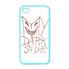 My Dark Side Typographic Design Apple Iphone 4 Case (color) by dflcprints