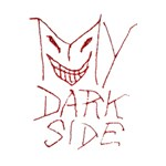 My Dark Side Typographic Design Deluxe Canvas 14  x 11  (Framed) 14  x 11  x 1.5  Stretched Canvas