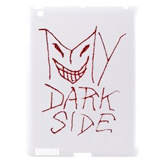 My Dark Side Typographic Design Apple Ipad 3/4 Hardshell Case (compatible With Smart Cover) by dflcprints