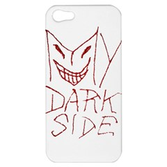 My Dark Side Typographic Design Apple Iphone 5 Hardshell Case by dflcprints