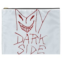 My Dark Side Typographic Design Cosmetic Bag (xxxl) by dflcprints
