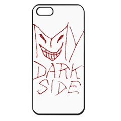 My Dark Side Typographic Design Apple Iphone 5 Seamless Case (black) by dflcprints