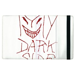 My Dark Side Typographic Design Apple Ipad 3/4 Flip Case by dflcprints