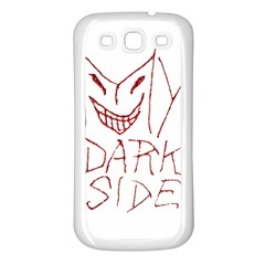 My Dark Side Typographic Design Samsung Galaxy S3 Back Case (white) by dflcprints