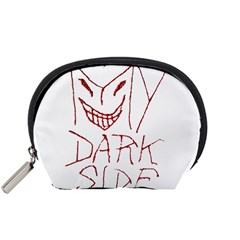 My Dark Side Typographic Design Accessory Pouch (small) by dflcprints