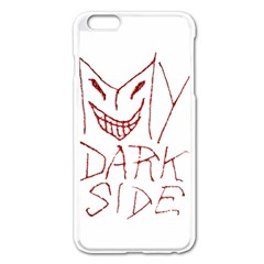 My Dark Side Typographic Design Apple Iphone 6 Plus Enamel White Case by dflcprints