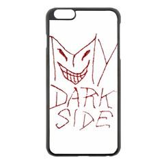 My Dark Side Typographic Design Apple Iphone 6 Plus Black Enamel Case by dflcprints