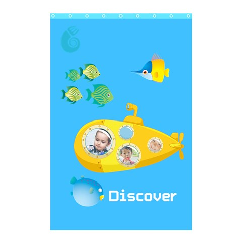 Kids By Kids   Shower Curtain 48  X 72  (small)   I38qhj5qtdhz   Www Artscow Com 42.18 x64.8 Curtain