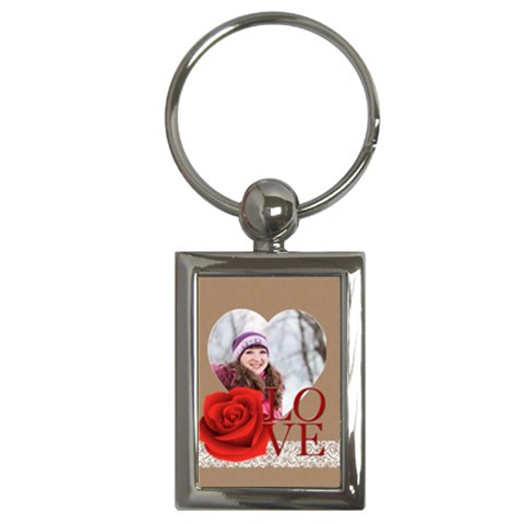Love By Ki Ki   Key Chain (rectangle)   Dxlzs7slbf8d   Www Artscow Com Front
