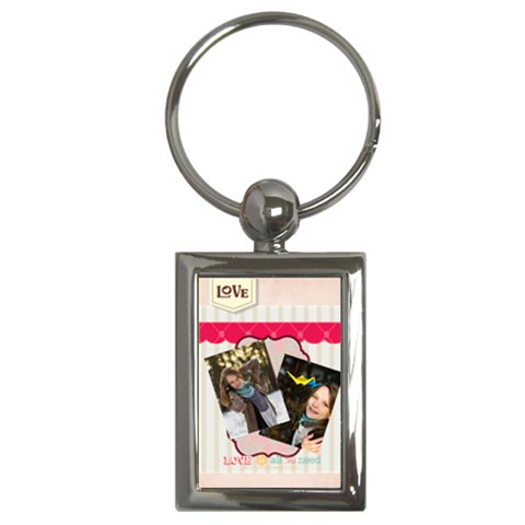Love By Ki Ki   Key Chain (rectangle)   Ecnsknmra9ms   Www Artscow Com Front