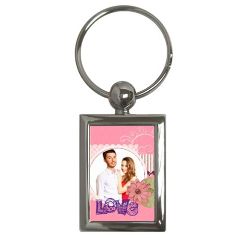 Love By Ki Ki   Key Chain (rectangle)   Ju7n2l101fwm   Www Artscow Com Front