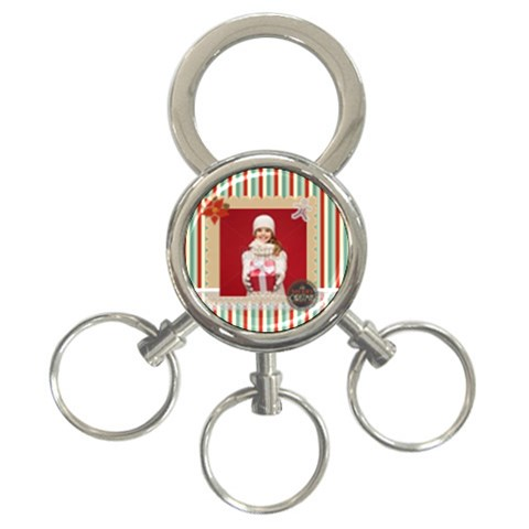 Xmas By Xmas   3 Ring Key Chain   5c8bigfwig64   Www Artscow Com Front