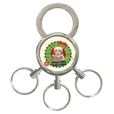 Xmas By Xmas   3 Ring Key Chain   2mb7h5tba8hp   Www Artscow Com Front