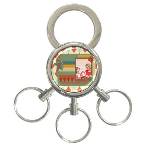 Xmas By Xmas   3 Ring Key Chain   Awiw9zlh2arc   Www Artscow Com Front
