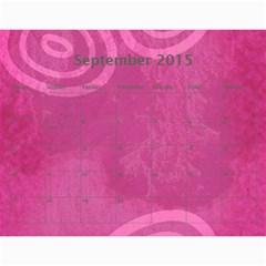 Calendar   2015 By Carmensita   Wall Calendar 11  X 8 5  (12 Months)   Nezltt4phujl   Www Artscow Com Sep 2015