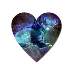 Catch A Falling Star Magnet (heart) by icarusismartdesigns