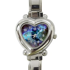 Catch A Falling Star Heart Italian Charm Watch  by icarusismartdesigns