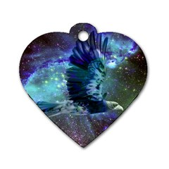 Catch A Falling Star Dog Tag Heart (one Sided)  by icarusismartdesigns