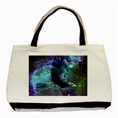 Catch A Falling Star Twin Sided Black Tote Bag by icarusismartdesigns