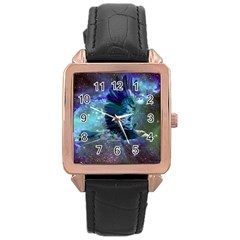 Catch A Falling Star Rose Gold Leather Watch  by icarusismartdesigns