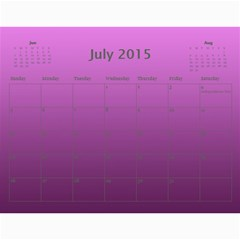 Calendar 2015 By Carmensita   Wall Calendar 11  X 8 5  (12 Months)   Voay65msovt6   Www Artscow Com Jul 2015