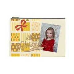 Xmas By Xmas   Cosmetic Bag (large)   6e7u8r2kmifk   Www Artscow Com Front