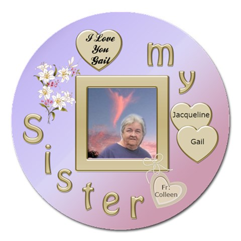 Momsendinglove By Colleen Pike   Magnet 5  (round)   Sj71ji0dl89a   Www Artscow Com Front