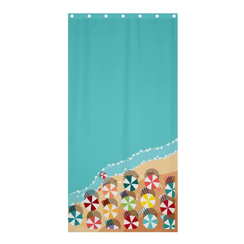 Summer By X   Shower Curtain 36  X 72  (stall)   9r4iyltjq866   Www Artscow Com 33.26 x66.24 Curtain
