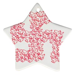 Swastika With Birds Of Peace Symbol Star Ornament by dflcprints