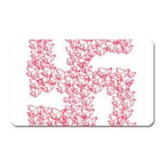 Swastika With Birds Of Peace Symbol Magnet (rectangular) by dflcprints