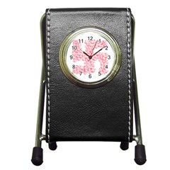 Swastika With Birds Of Peace Symbol Stationery Holder Clock by dflcprints