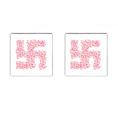 Swastika With Birds Of Peace Symbol Cufflinks (Square) by dflcprints